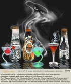 Halloween drinks- Set of Non alcoholic animated drinks (boxed)