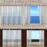 ★Animated curtains with script 'sliding door'