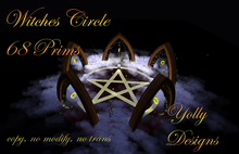 Witch Circle for Halloween