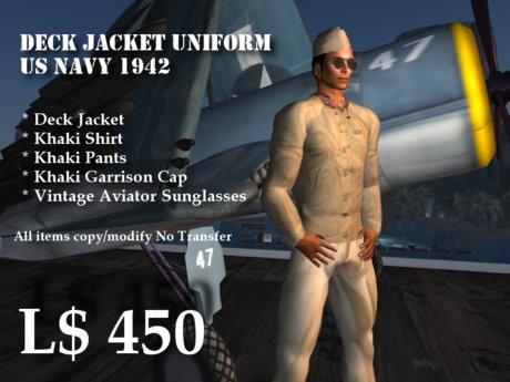 Deck Jacket Uniform USN 1942 Box