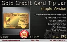 Gold Credit Card Tip Jar - Simple Version