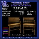 """""""TD"""" Mesh Roll Desk Kit A"""