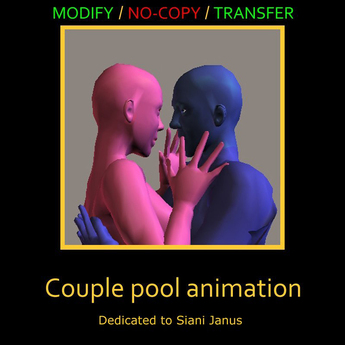 Couple pool animation by Bits and Bobs animations