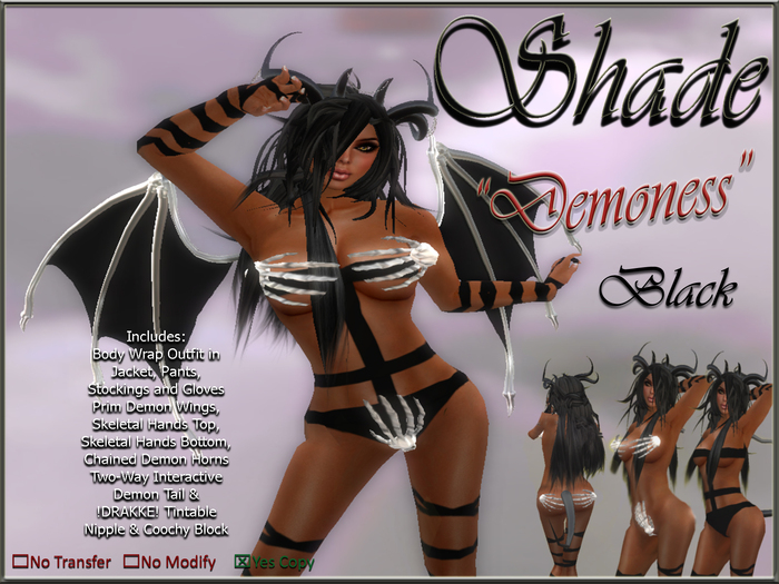 "!SHADE! ""Demoness"" Black"