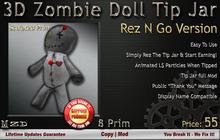 3D Zombie Doll Tip Jar - Rez N Go Version