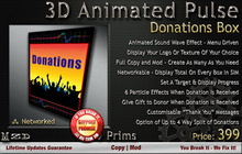 Animated Pulse Donations Box