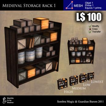 LOW PRIM - Medieval storage rack 1 [G&S]