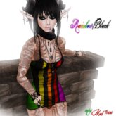 ~*KAWAII DESU!*~ Mini Dress Rainbow/Black