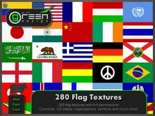 ●GD● 280 Flag Textures [Full Perm, Countries, US States, Organizations, Symbols] Flags Pole Mega Texture Pack
