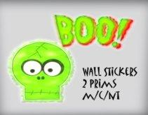 Boo! >:0  Wall sticker m/c/nt