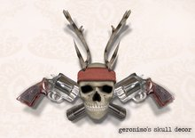 Geronimo's Skull Wall Decor by Flightless