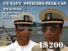 US Navy Officers Peak Cap