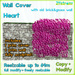 PINK HEART IVY WALL COVER - sculpted 1 prim, copy, full modify, resizable up to 64m; +1 prim Old Brick Wall with grass