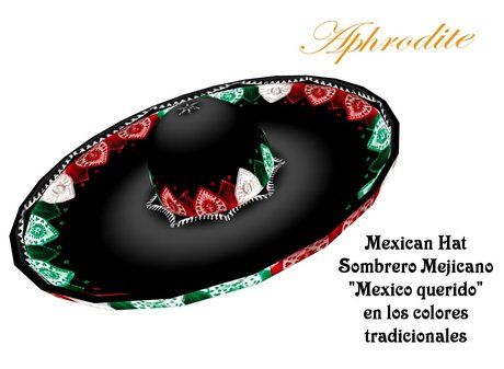 Mexican traditional hat/ Sombrero Mexico querido (boxed)