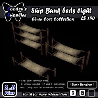 Ship Bunk beds light