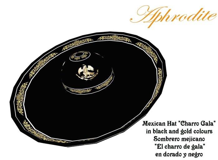 Charro gala Hat Sombrero (boxed)