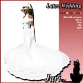 JariCat Latex Wedding Gown - White