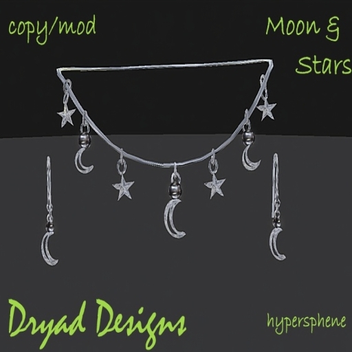 ~*Dryad Designs*~ Moon and Stars Shopping bag