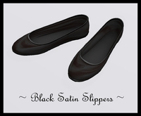 ♡ Women's Black Satin Slippers ~ These Stylish Flats Will Go Great With Everything ! Enjoy :)