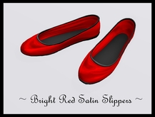 @ ! Bliss Designs ~ Sexy Women's Flats or Ballerina Shoes ~ Red Satin Slippers ~ They Go Great With Everything