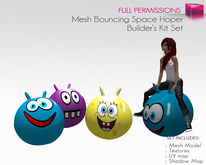 Full Perm Mesh Scripted and Animated Bouncing Space Hopper/Bouncing Ball-Builder's Kit Set