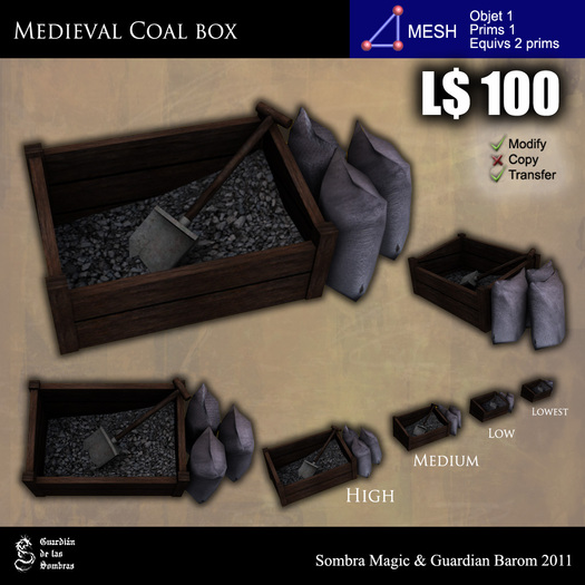 LOW PRIM - Medieval coal box [G&S]