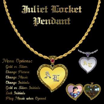 """Ashira's """"Juliet""""  Musical Locket Pendant"""