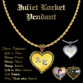 "Ashira's ""Juliet""  Musical Locket Pendant"