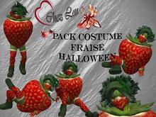 """Pack Costume Halloween """"Fraise"""""""