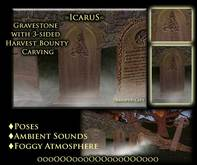 =IcaruS= Gravestone with 3-sided Harvest Bounty Carving