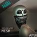 AITUI - *MESH* - Sugar Skull Wrap [Unisex]