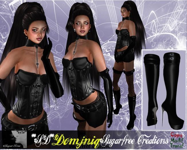 **SD** Transfer -XX Domjniq Extreme Outfit Black Leather