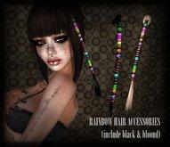 dl:: Rainbow hair accesories