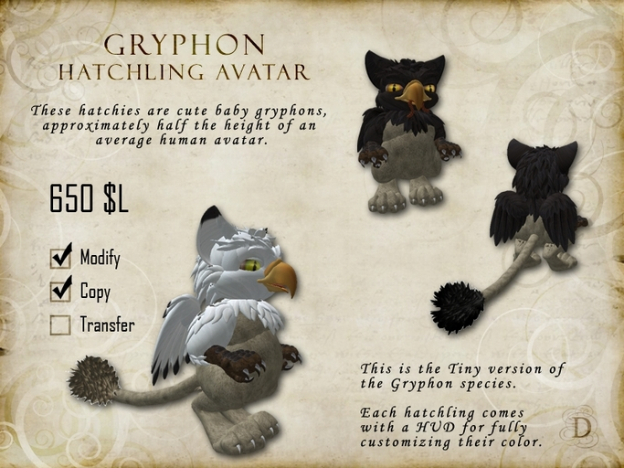 Gryphon Hatchling - Tiny Avatar