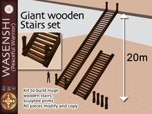Wasenshi Giant Wooden Stair set.