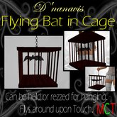 Animated Bat in Cage