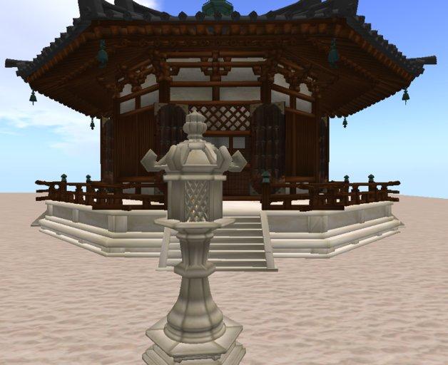 octagonal japanese temple