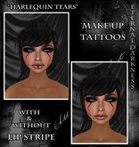 "::ED:: ""Harlequin tears"" tattoo 2 pack"