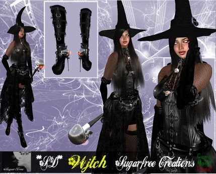 **SD**XX Wjtch Sexy mistress Gothic & Vampire ( Skull Staff )(OUTFIT)