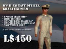 US Navy Officer Uniform WWII Khaki