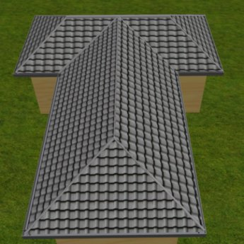 Second Life Marketplace Build Better Roofs Cross Hip Roof