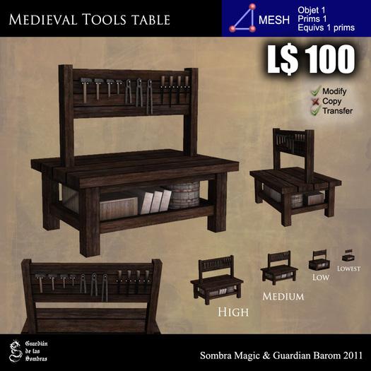 LOW PRIM - Medieval tools table [G&S]