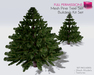 %50SUMMERSALE Full Perm Mesh Pine / Christmas Fir Tree Set-Builder's Kit Make Your Own Perfect Xmas Tree