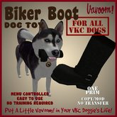 Biker Boot Pet Toy by Vavoom! (Boxed) - Toys and Accessories for Virtual Kennel Club (VKC®) Pets - No Training Required