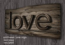 Driftwood Love sign By Flightless (boxed)