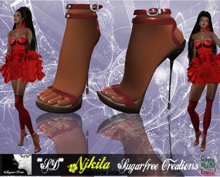 **SD** -NJKITA- Super Sexy High Heels Shoes - Red version