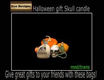 Skull candle  & pumpkins