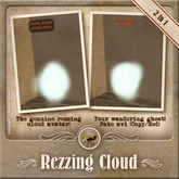 [OO] Rezzing Cloud - Your wandering ghost! Bonus: The genuine LL cloud avatar