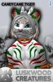 Luskwood CandyCane Tiger Furry Avatar - Male