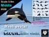 *R&Ms* Mesh avatar orca (M size)